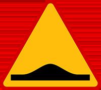 Znak A-11a Próg zwalniający.